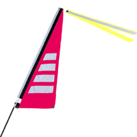 Bikeflag Hot Pink Stripe
